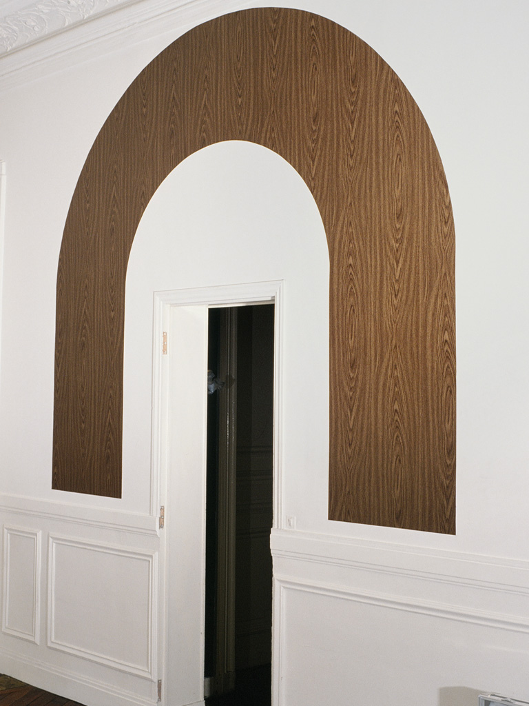Claude Closky, 'Oval, Rectangle and Reversed U,' 1989, insitu installation, fake wood vinyl, dimensions variable.